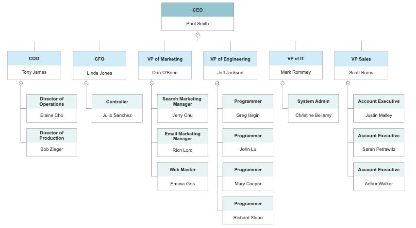 standard organization chart